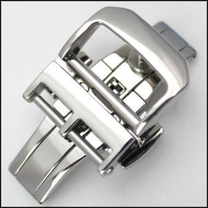 時計ベルト バンド Rios1931 フォールディング Dバックル 観音開き シルバー 14・16・18mm 腕時計(メ)|chronoworldjapan