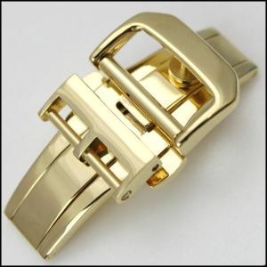 時計ベルト バンドRios1931 フォールディング Dバックル 観音開き イエロー・ゴールド 14・16・18mm 腕時計(メ)|chronoworldjapan