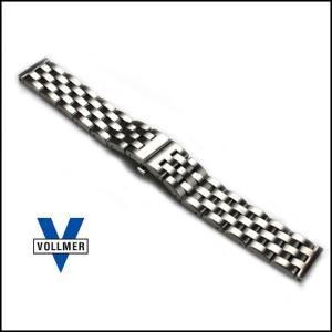 時計 ベルト バンド Vollmer ヴォルマー ヘビーデューティ 5連 プッシュバックル・ブレスレット 腕時計 ステンレス(宅)|chronoworldjapan