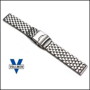 時計ベルト バンド Vollmer ヴォルマー ヘビーデューティ 7連 Dバックル・ブレスレット 腕時計 ステンレス(宅)|chronoworldjapan