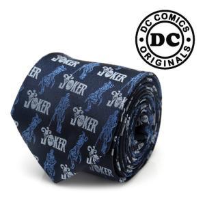 ネクタイ メンズ 紳士 シルク The JOKER Pose Blue Tie ジョーカー DC-J...
