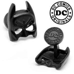 カフスボタン ブランド Various Licensed Satin Black Classic Batman Mask Cufflinks バットマンマスクカフス DC Comics(宅)|chronoworldjapan