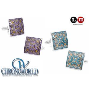 カフスボタン ブランド L2 by LOMA Enamel Tracery Cufflinks エナメルトレーサリーカフス(宅)|chronoworldjapan