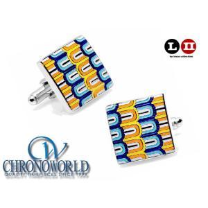 カフスボタン ブランド L2 by LOMA Enamel Layered Links Cufflinks エナメルレイヤードリンクスカフス(宅)|chronoworldjapan