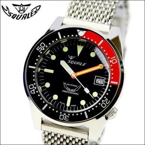 SQUALE スクワーレ PROFESSIONAL プロフェッショナル ブラック×オレンジ 1521-026 ダイバーズ 500m防水 メッシュブレス 自動巻き メンズ腕時計 ミリタリー(宅)|chronoworldjapan