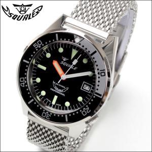 SQUALE スクワーレ PROFESSIONAL プロフェッショナル ブラック×ホワイトグレー 1521-026 ダイバーズ 500m防水 メッシュブレス 自動巻き 腕時計 ミリタリー(宅)|chronoworldjapan