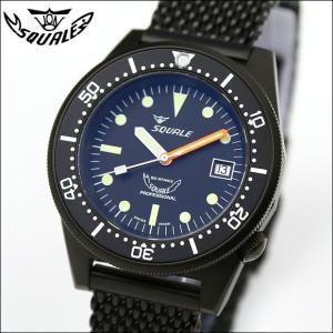 SQUALE スクワーレ PROFESSIONAL プロフェッショナル PVDブラック 1521-026 ダイバーズ 500m防水 メッシュブレス 自動巻き メンズ腕時計 ミリタリー(宅)|chronoworldjapan