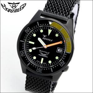 SQUALE スクワーレ PROFESSIONAL PVDブラック×イエロー 1521-026 ダイバーズ 500m防水 メッシュブレス 自動巻き メンズ腕時計 ミリタリー(宅)|chronoworldjapan