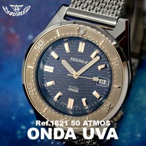 SQUALE スクワーレ PROFESSIONAL プロフェッショナル ONDA UVA オンダ ウーヴァ 1521-026 ダイバーズ 500m防水 メッシュブレス AUTOMATIC 自動巻き|chronoworldjapan