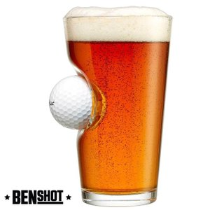 BENSHOT ベンショット  Golf Ball Pint Glass ゴルフボール ビアグラス ...