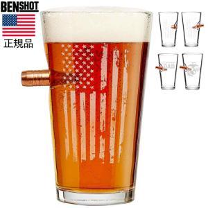ビアグラス BENSHOT(ベンショット)Beer glass 16oz(454ml) 星条旗の刻印 パイントグラス 米国製 ハンドメイド chronoworldjapan