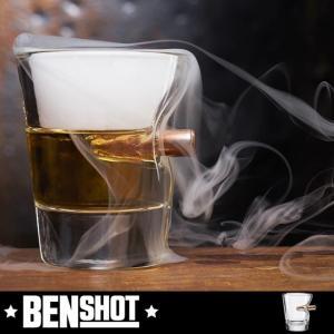BENSHOT ベンショット ショットグラス 1.5oz 44ml ウィスキー  ギフト クリスマス 父の日  記念日  米国製 弾丸 グラス お酒 インテリア 雑貨|chronoworldjapan