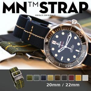 時計 ベルト 腕時計 時計バンド MN STRAP MARINE NATIONAL マリーンナショナル MNストラップ 20mm 22mm ブラック グレー オリーブ グリーン ストライプ|chronoworldjapan