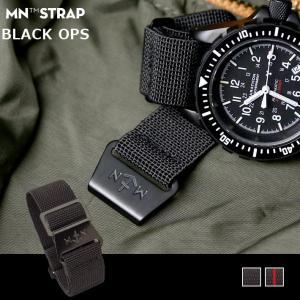時計 ベルト 腕時計 時計バンド MN STRAP MARINE NATIONAL BLACK OPS DLC マリーンナショナル MNストラップ 20mm 22mm ダイヤモンドライクカーボン ブラック|chronoworldjapan