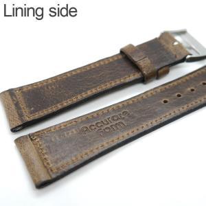 バネ棒付き 時計 ベルト バンド Accurate Form アキュレイトフォルム Horween leather belt ホーウィン レザーベルト|chronoworldjapan|07