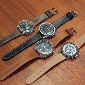 バネ棒付き 時計 ベルト バンド Accurate Form アキュレイトフォルム Horween leather belt ホーウィン レザーベルト|chronoworldjapan|09