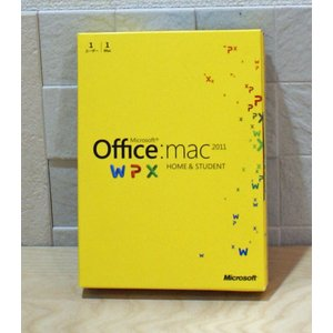 (中古)Microsoft Office for Mac Home and Student 2011-1 パック [DVD-ROM]