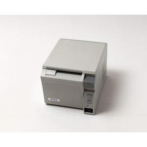 (中古)EPSON レシートプリンタ TM-T70(USB/58mm)ホワイト(電源別売)|chu-konomori