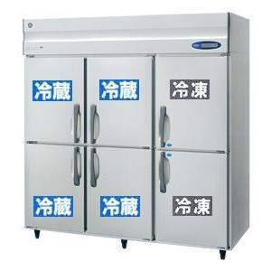 新品 ホシザキ 業務用 冷凍冷蔵庫 HRF-180ZFT3 1800x650x1890 縦型6ドア2凍4冷インバーター薄型|chubojack