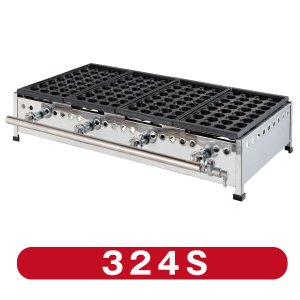 IKK たこ焼き器 32穴×4連 鉄鋳物 324S  送料無料!!(沖縄・離島を除く)|chuboking