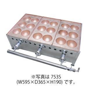 IKK 爆弾焼き器 6穴×3連 銅板 753S 【送料無料】|chuboking