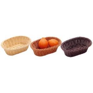 樹脂バスケット 小判24号 91-009 茶|chubonoie