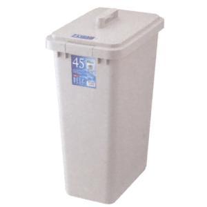 ごみ箱 ポリペール 角型 ベルク グレー45S本体 48L|chubonoie