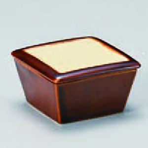 アメ釉蓋付角珍味 115-14-033|chubonoie