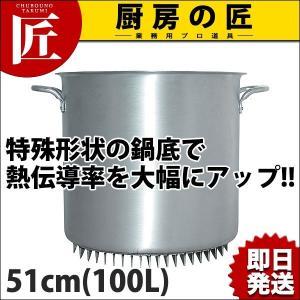 エコライン 寸胴鍋 蓋無し 51cm 100L (N) 業務用 寸胴 アルミ アルミ鍋 アルミ製