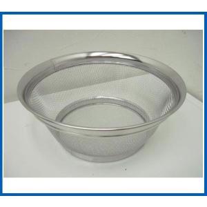未使用品 ステンレス浅型ざる22cm Φ220x83 調理小物|chuboutokunekan