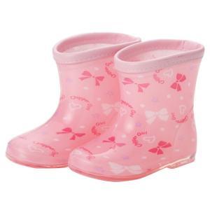 ベビー服 赤ちゃん 服 ベビー 長靴 女の子 リボン柄長靴【レインシューズ】|chuckle