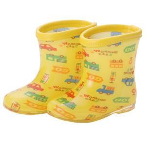 ベビー服 赤ちゃん 服 ベビー 長靴 男の子 クルマ柄長靴【レインシューズ】|chuckle