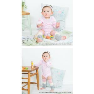 ベビー服 赤ちゃん 服 ベビー ロンパース 女の子 70 80 90 保育園  リボンいっぱい長袖かぶりロンパース|chuckle|02