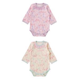 ベビー服 赤ちゃん 服 ベビー ロンパース 女の子 70 80 90 保育園  リボンいっぱい長袖かぶりロンパース|chuckle|03
