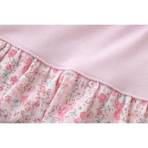 ベビー服 赤ちゃん 服 ベビー ロンパース ワンピース 女の子 60 70 80 お出かけ スウィートガール小花柄スカート付き長袖ロンパース|chuckle|08