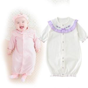 ベビー服 赤ちゃん 服 ベビー ツーウェイオール 女の子 新生児 2wayオール ドレスオール スウィートガール長袖ツーウェイオールの画像