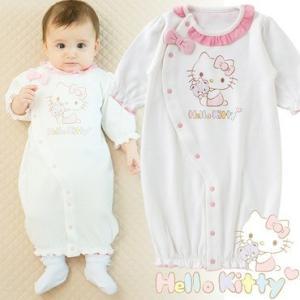 ベビー服 赤ちゃん 服 ベビー ツーウェイオール 女の子 新生児 出産祝い ギフト    ハローキティ新生児ツーウェイオール|chuckle