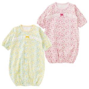 春夏向けの新生児ツーウェイオールです。  ツーウェイオールは、ねんねの時期はドレスとして 活発に足を...