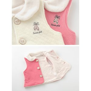1680cd8bc73ce ... ベビー服 赤ちゃん 服 ベビー ベスト 女の子 70 80 90 95 出産祝い  スウィートガール  ...