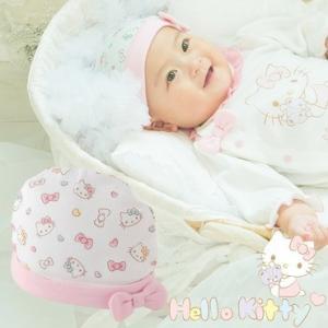 ベビー服 赤ちゃん 服 ベビー 帽子 女の子 出産祝い 出産準備 ギフト    ハローキティ新生児帽子|chuckle