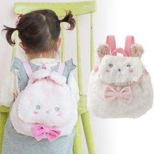 ふわもこウサギちゃんの キュートなベビー用リュックサックです。  ■サイズ:縦22cm、横幅28cm...