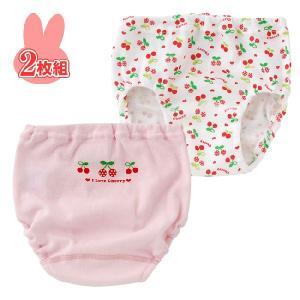 ベビー服 赤ちゃん 服 ベビー ショーツ 女の子 さくらんぼ防水布付きトレーニングショーツ2枚組 chuckle