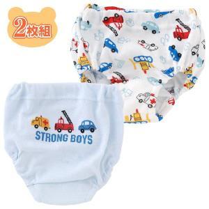 ベビー服 赤ちゃん 服 ベビー ブリーフ 男の子 クルマ柄防水布付きトレーニングブリーフ2枚組 chuckle