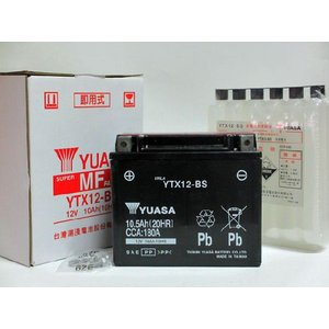 初期充電済み YTX12-BS chuoh-sk