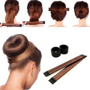 簡単にシニヨンができる便利ツール 慣れるとあっという間におだんごまとめ髪ができます。  髪をくるくる...