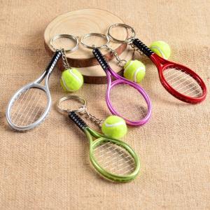 キーホルダー テニスラケット テニスボール ミニチュア キー...