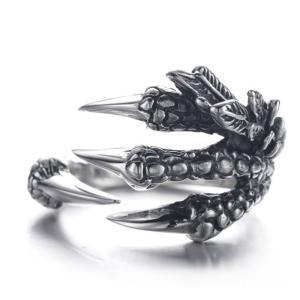 龍の爪 アンティーク シルバー リング 指輪 龍 竜 ドラゴン 爪 クロー メンズ シルバーリング ヴィンテージ ドラゴンクロー