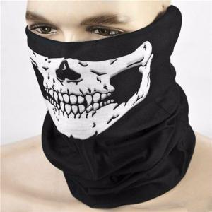 これからの季節に大活躍のフェイスマスク スカル柄の個性的な柄だから、目立つこと間違いなし!  サバゲ...