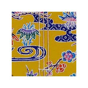 三線/沖縄紅型三線(橙)|churasaki|02