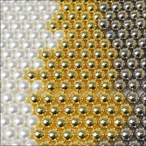 抽選器の玉・抽選玉 金・銀・パール色(穴なし) / 抽選機 球 抽選球|chusen-tonya